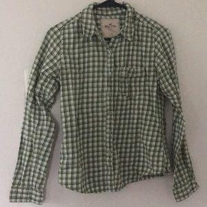 Medium Green Hollister Light Flannel